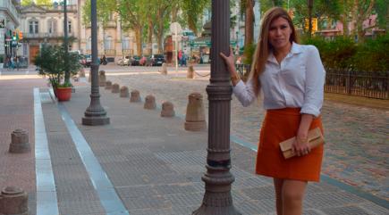 Outfit Falda Naranja